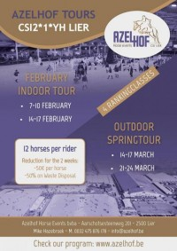 PROGRAM INDOOR TOUR 7-17 FEBRUARY CSI2*YH LIER