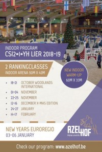 PROGRAM INDOOR-SEASON 2018-19 IS ONLINE !